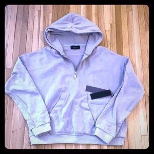 Kollar Clothing Boxy Half Zip Hooded Sweatshirt